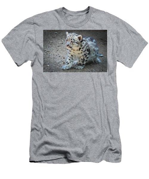 Snow Leopard Cub Men's T-Shirt (Athletic Fit)