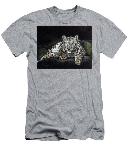 Snow Leopard Men's T-Shirt (Athletic Fit)