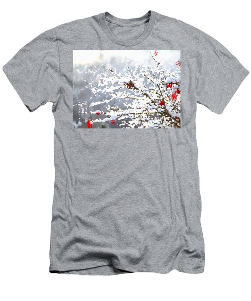 Men's T-Shirt (Athletic Fit) featuring the digital art Snow On The Maple by Shelli Fitzpatrick