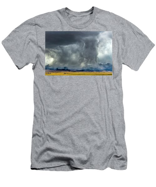 Snow On The Rockies Men's T-Shirt (Athletic Fit)