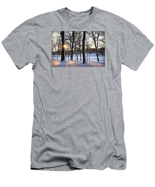 Snow Starred Grove Men's T-Shirt (Slim Fit) by Kathy M Krause