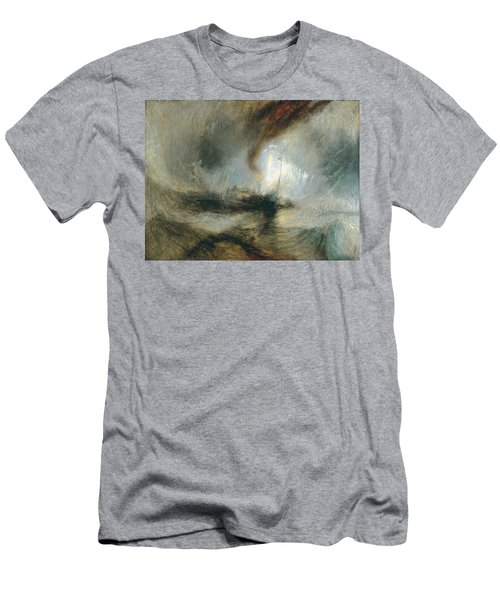 Men's T-Shirt (Slim Fit) featuring the painting Snow Storm by Joseph Mallord William Turner