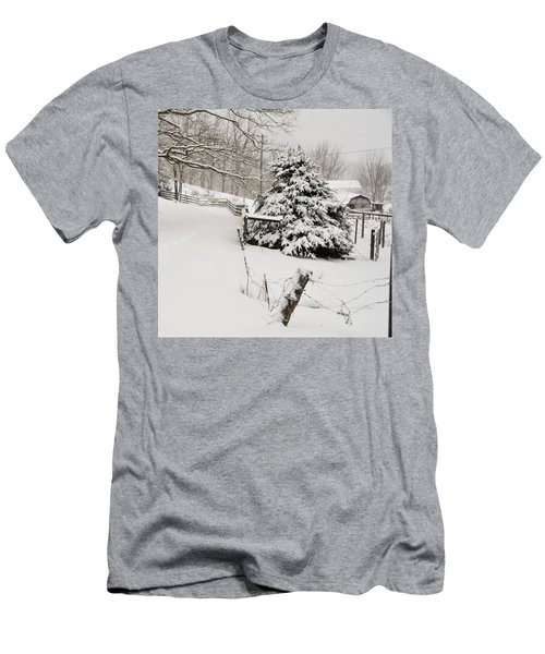 Snow Tree Men's T-Shirt (Athletic Fit)