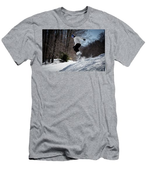 Men's T-Shirt (Slim Fit) featuring the photograph Snowboarding Mccauley Mountain by David Patterson