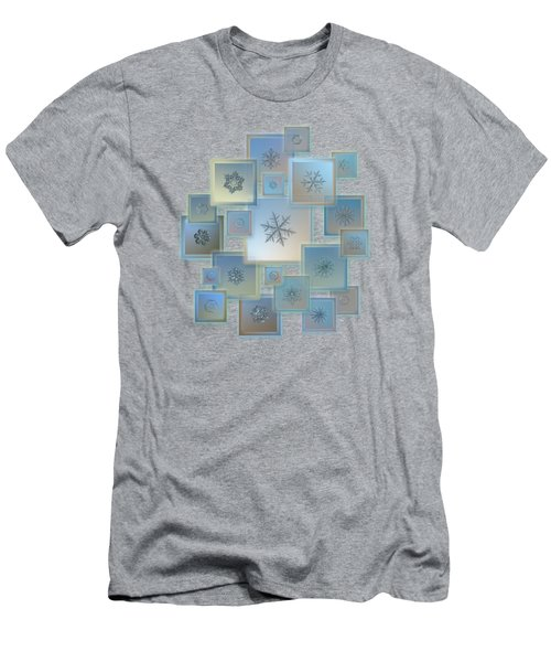 Snowflake Collage - Bright Crystals 2012-2014 Men's T-Shirt (Athletic Fit)