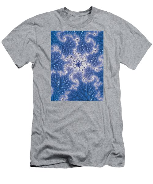 Men's T-Shirt (Slim Fit) featuring the photograph Snowflake Embroidered by Ronda Broatch