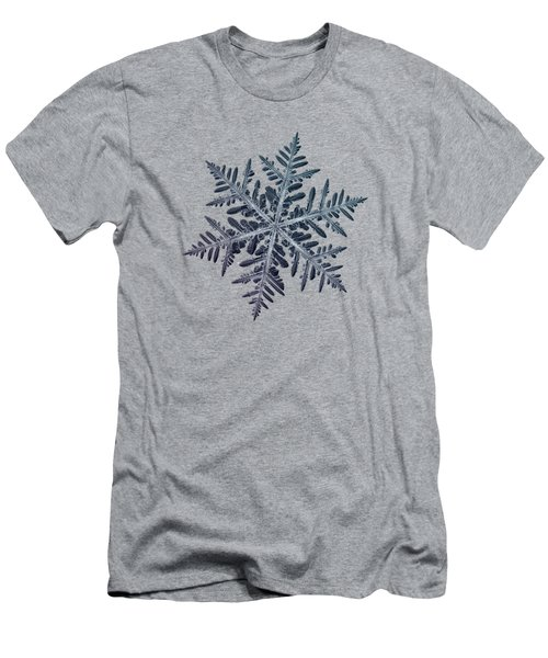 Men's T-Shirt (Slim Fit) featuring the photograph Snowflake Photo - Neon by Alexey Kljatov