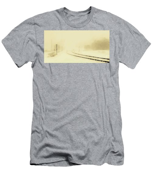 Snowstorm In The Yard S Men's T-Shirt (Athletic Fit)