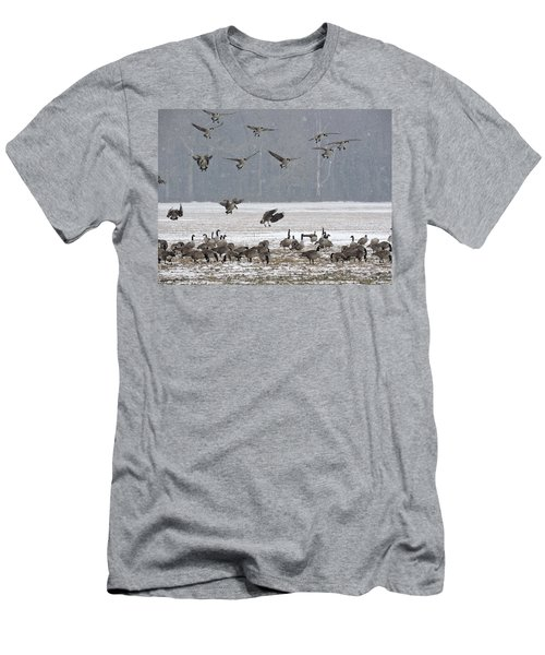 Snowy Approach Men's T-Shirt (Athletic Fit)