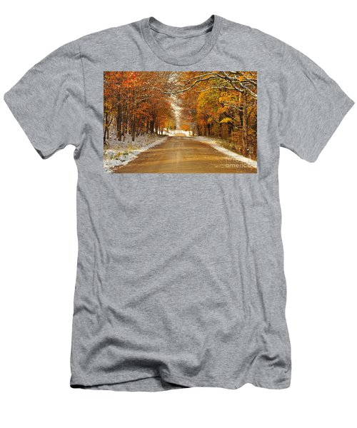 Snowy Autumn Morning In Pure Michigan Men's T-Shirt (Athletic Fit)