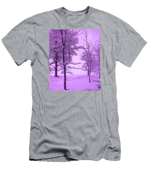 Snowy Day In Purple Men's T-Shirt (Athletic Fit)