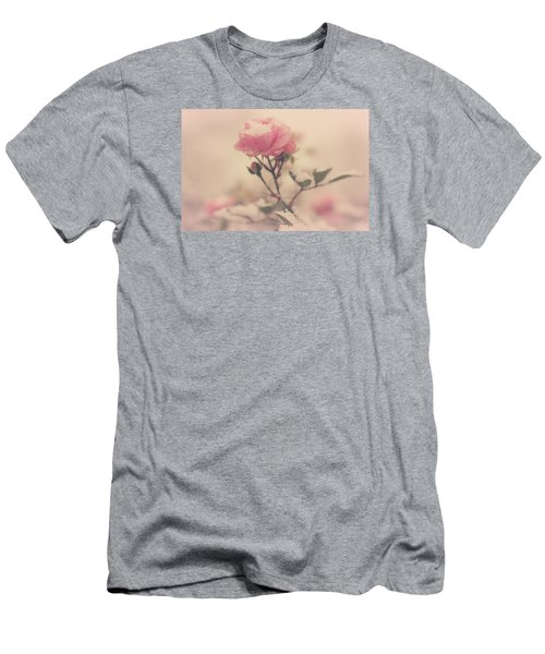 Snowy Day Of Roses Men's T-Shirt (Slim Fit) by The Art Of Marilyn Ridoutt-Greene