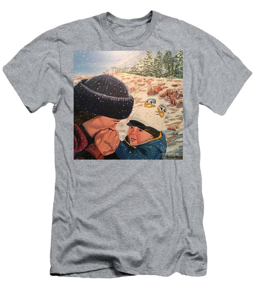 Snowy Day With My Dad Men's T-Shirt (Athletic Fit)