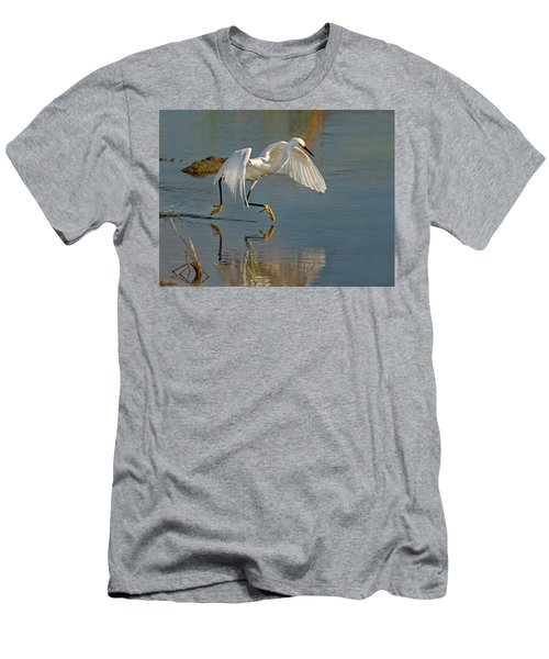 Snowy Egret On The Move Men's T-Shirt (Athletic Fit)