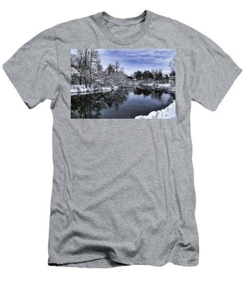 Snowy Ellicott Creek Men's T-Shirt (Athletic Fit)