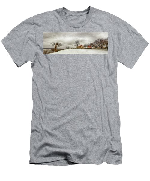 Snowy Mt Vernon Men's T-Shirt (Athletic Fit)