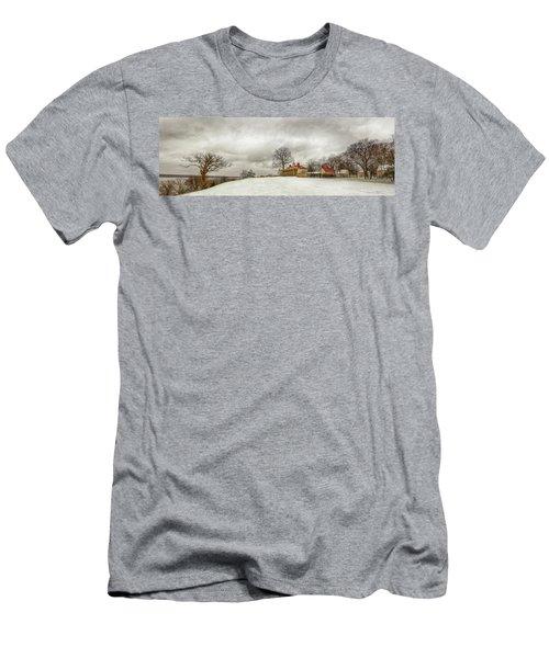 Snowy Mt Vernon Men's T-Shirt (Athletic Fit)