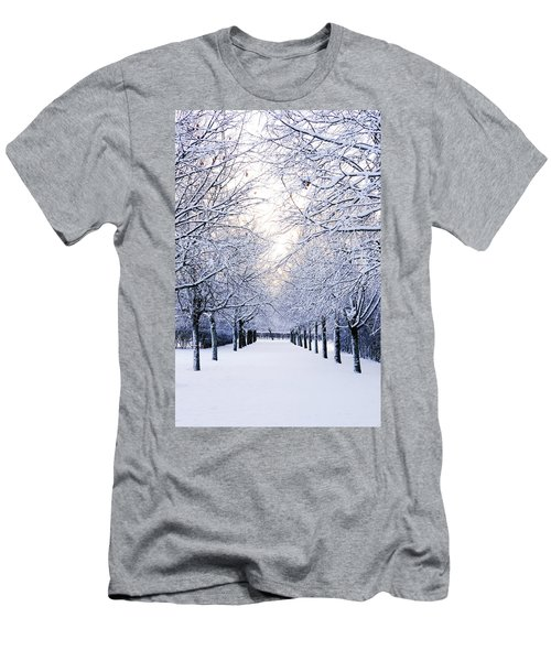 Snowy Pathway Men's T-Shirt (Athletic Fit)
