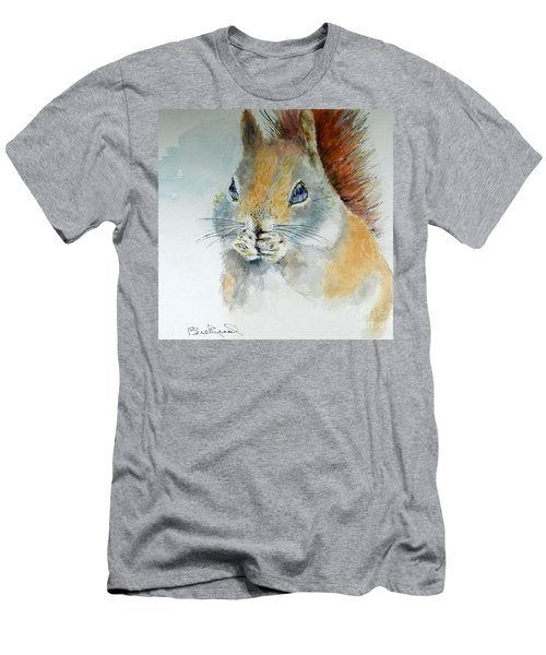 Snowy Red Squirrel Men's T-Shirt (Athletic Fit)