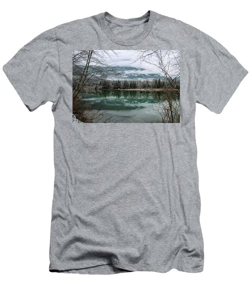 Snowy Reflection Men's T-Shirt (Athletic Fit)