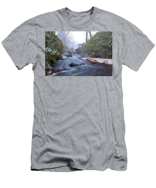 Men's T-Shirt (Athletic Fit) featuring the photograph Snowy River And Waterfall by Brian Hale