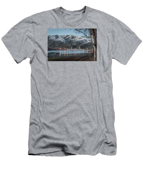 Snowy Star Men's T-Shirt (Slim Fit) by Brad Stinson