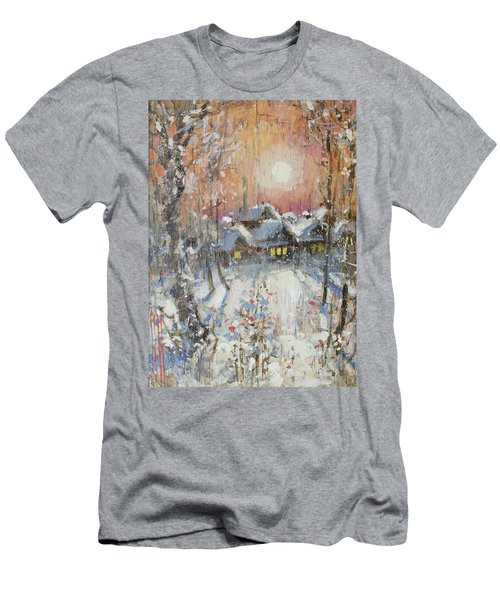 Snowy Village Men's T-Shirt (Athletic Fit)