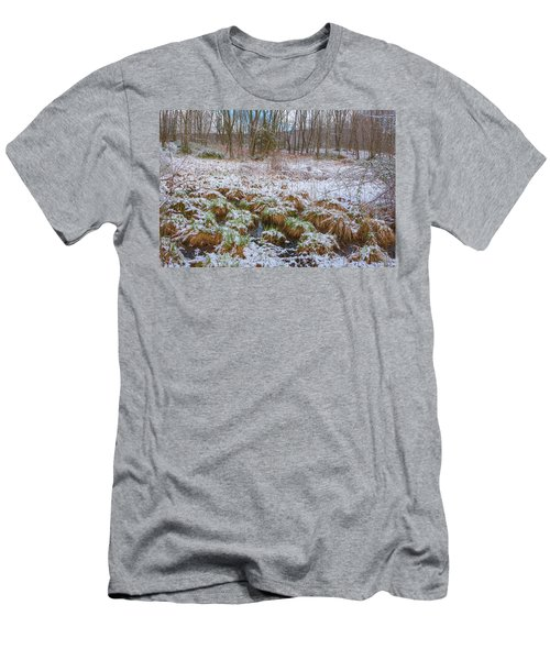 Snowy Wetlands Men's T-Shirt (Slim Fit) by Angelo Marcialis
