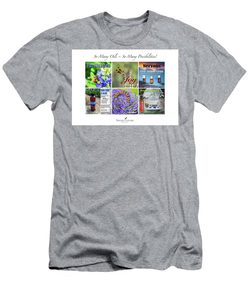 Men's T-Shirt (Slim Fit) featuring the digital art So Many Oils by Cheryl McClure
