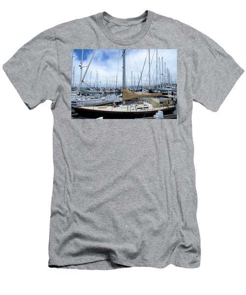 So Many Sailboats Men's T-Shirt (Slim Fit) by Laura DAddona