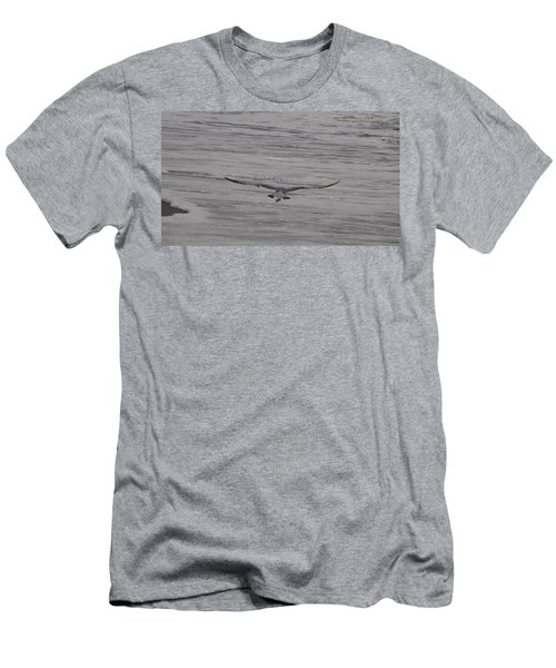Men's T-Shirt (Slim Fit) featuring the photograph Soaring Gull by  Newwwman