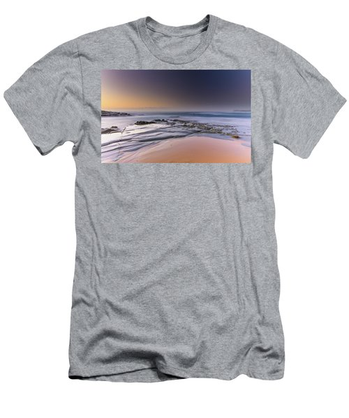 Soft And Rocky Sunrise Seascape Men's T-Shirt (Athletic Fit)