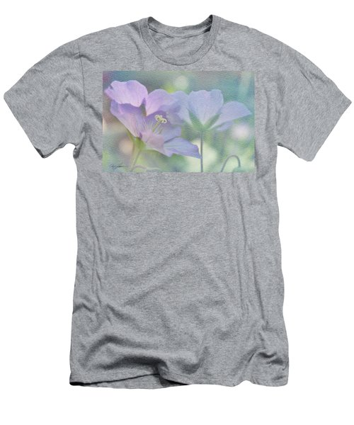 Men's T-Shirt (Slim Fit) featuring the photograph Soft Blue by Ann Lauwers