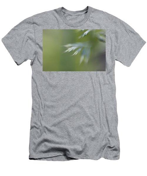 Soft Green Men's T-Shirt (Slim Fit) by Michaela Preston