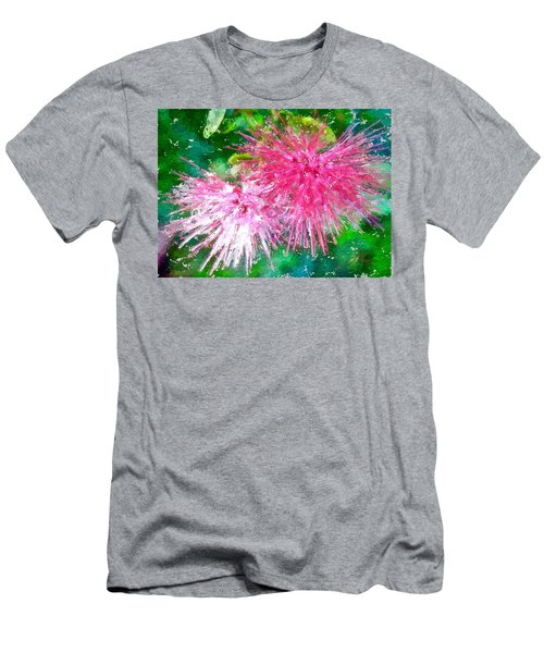Soft Pink Flower Men's T-Shirt (Athletic Fit)