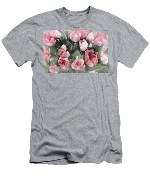 Soft Pink Tulips Men's T-Shirt (Athletic Fit)