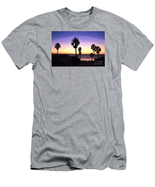Solana Beach Sunset - Digital Painting Men's T-Shirt (Athletic Fit)