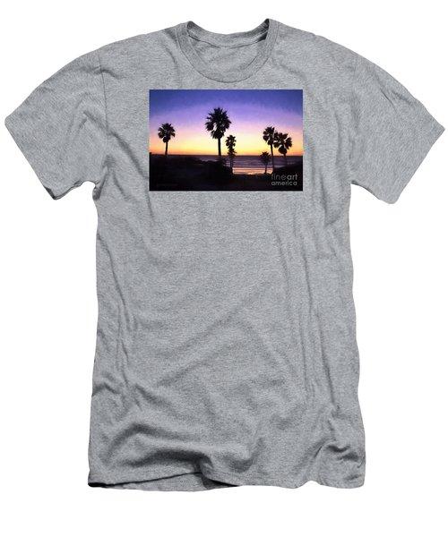 Solana Beach Sunset - Digital Painting Men's T-Shirt (Athletic Fit)