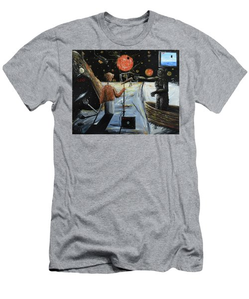 Men's T-Shirt (Athletic Fit) featuring the painting Solar Broadcast -transition- by Ryan Demaree