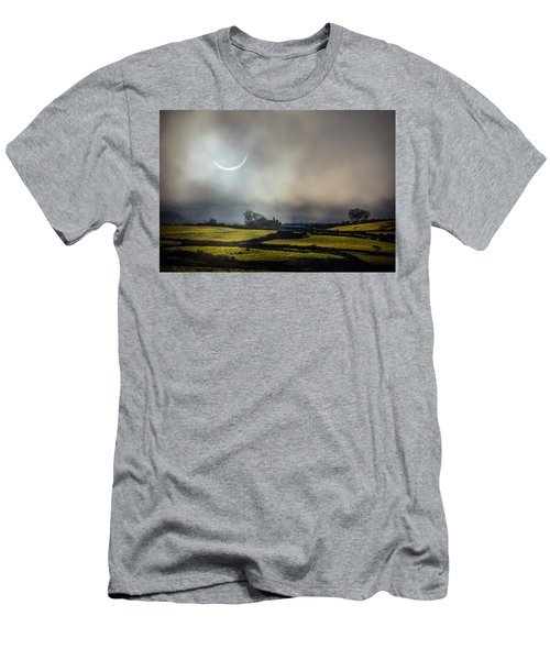 Solar Eclipse Over County Clare Countryside Men's T-Shirt (Athletic Fit)