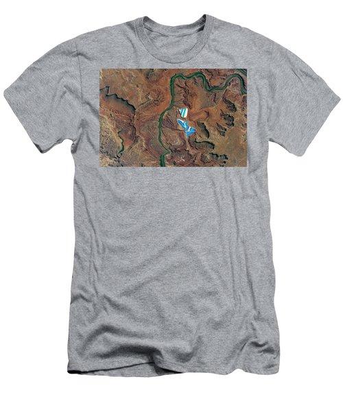 solar evaporation ponds outside the city of Moab, Utah Men's T-Shirt (Athletic Fit)