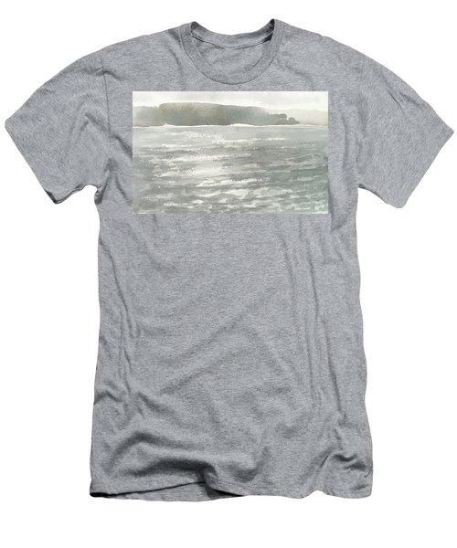 Soldis Over Glittrande Fjord - Sunlit Haze Over Glittering Water_0023 76x48cm Men's T-Shirt (Athletic Fit)