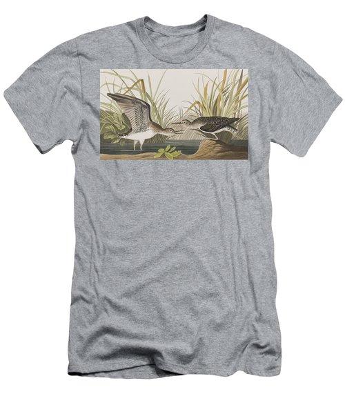 Solitary Sandpiper Men's T-Shirt (Slim Fit) by John James Audubon