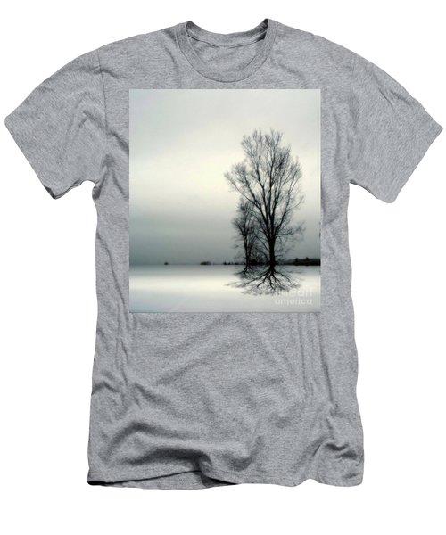 Men's T-Shirt (Slim Fit) featuring the digital art Solitude by Elfriede Fulda