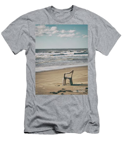 Solo On The Beach Men's T-Shirt (Athletic Fit)