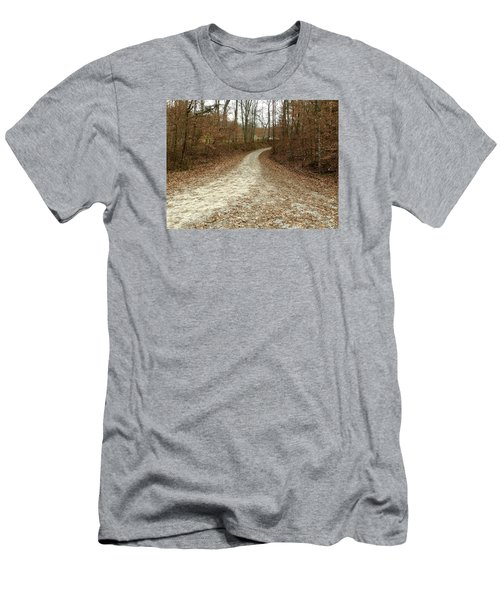 Somewhere Down The Road Men's T-Shirt (Slim Fit) by Russell Keating