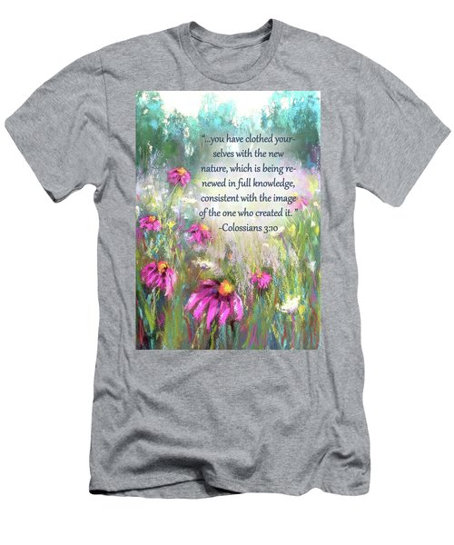 Song Of The Flowers With Bible Verse Men's T-Shirt (Athletic Fit)