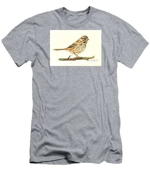 Song Sparrow Men's T-Shirt (Athletic Fit)