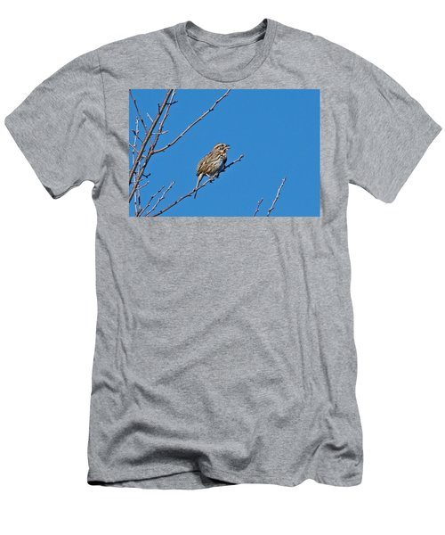 Men's T-Shirt (Slim Fit) featuring the photograph Song Sparrow by Michael Peychich