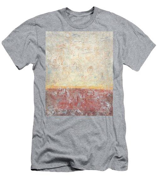 Sonoran Desert #2 Southwest Vertical Landscape Original Fine Art Acrylic On Canvas Men's T-Shirt (Athletic Fit)